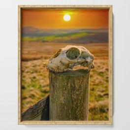Skull at Sunset Serving Tray