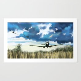 triple spitfires Art Print