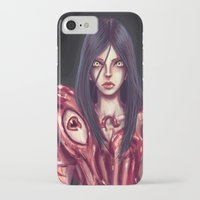 in the flesh iPhone & iPod Cases featuring Flesh Maiden by pandatails