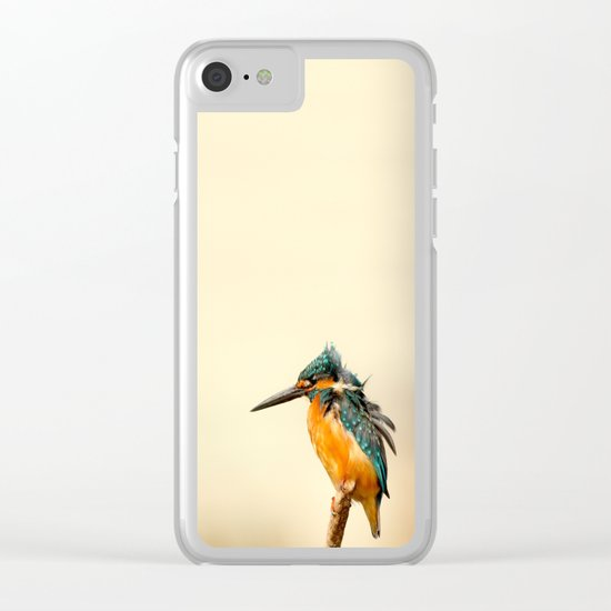 Kingfisher Bird Clear iPhone Case