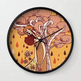 Menina Natureza Wall Clock