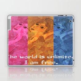The world is umlimited. I am free... Laptop & iPad Skin