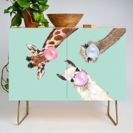 Bubble Gum Gang in Green Credenza