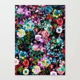 Multicolor Floral Pattern Canvas Print