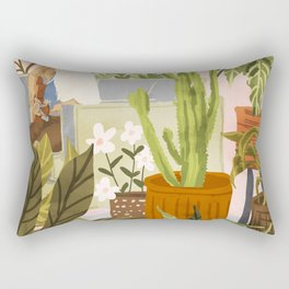 Playing For My Plants Rectangular Pillow
