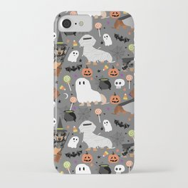 Dachshund dog breed halloween cute pattern doxie dachsie dog costumes iPhone Case