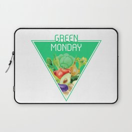 The optimal food triangle - Green Monday Laptop Sleeve