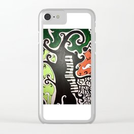 Piano Tree Clear iPhone Case