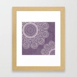 Mandala Tulips in Lavender ad Cream Framed Art Print