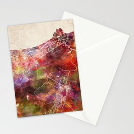 Muscat map Stationery Cards