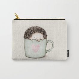 Hedgehog in a Mug Carry-All Pouch