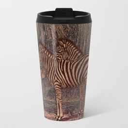 Vintage Zebra Painting (1909) Travel Mug
