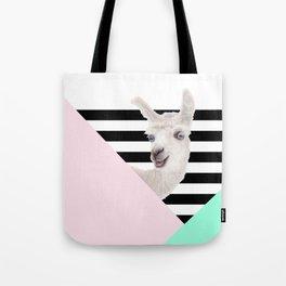 Llamas Amor Geometría Tote Bag