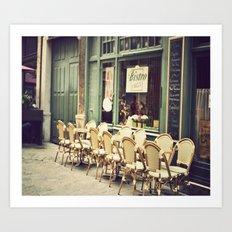 Le petit café Art Print
