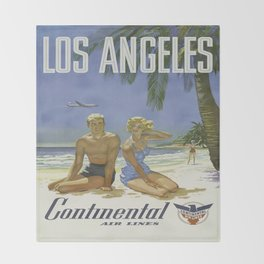 Vintage poster - Los Angeles Throw Blanket