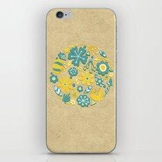 Little Flower Circle iPhone & iPod Skin