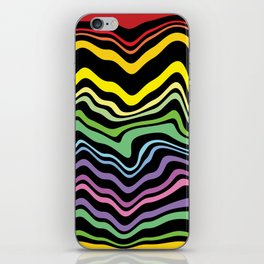 Tasting the rainbow iPhone Skin