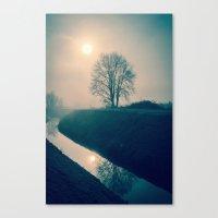 buddhism Canvas Prints featuring Experience by Schwebewesen • Romina Lutz