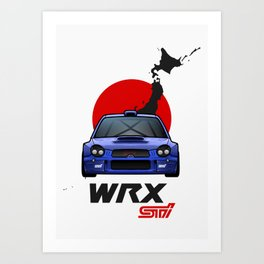 '02 ProDrive WRX STi Art Print
