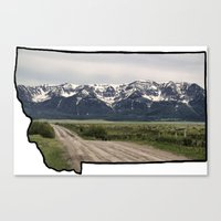 montana Canvas Prints featuring Montana by Justine O'Neil Photography