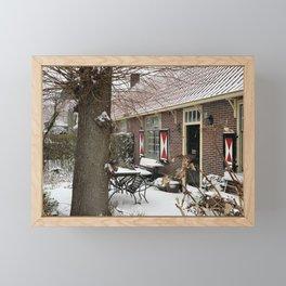Laren in Winterwonderland   The Netherlands Framed Mini Art Print