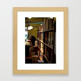 Old Library Framed Art Print