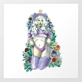 Flower princess Art Print