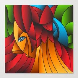 The Queen Cubism Art Canvas Print