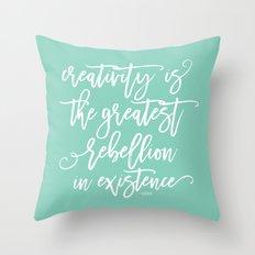 creativity rebellion Throw Pillow