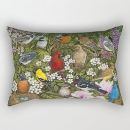 Garden Birds Rectangular Pillow