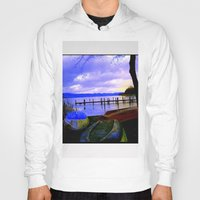 boats Hoodies featuring Boats by Esther Soendergaard