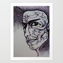 Visage 17 Art Print