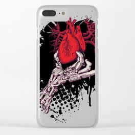 Ripped Out Heart Clear iPhone Case