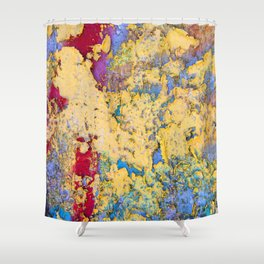 Flaking paint in Valparaiso Shower Curtain