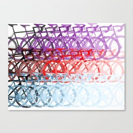 Bicycles palette Canvas Print