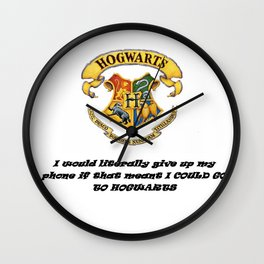 Anything FOR Hogwarts Wall Clock