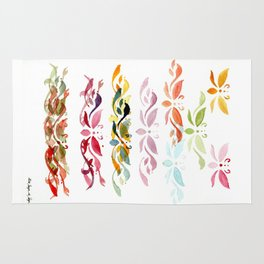 Butterfly arabesque Rug