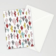 Colorful Cactus Pattern Stationery Cards