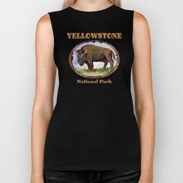 Yellowstone National Park Bison (Buffalo) Biker Tank
