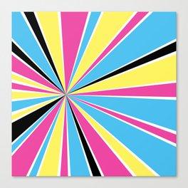 CMYK Star Burst Canvas Print