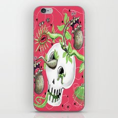 Skull Cachepot with Carnivorous Plants iPhone Skin