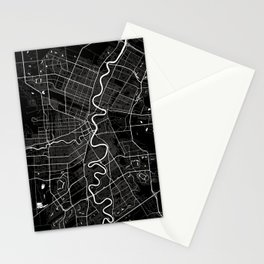 Winnipeg - Minimalist City Map Stationery Cards