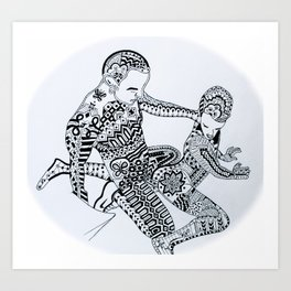 Daddy & Son Art Print