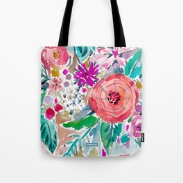 High by the Beach Painterly Floral Tote Bag