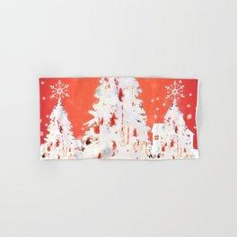 Three White Christmas Trees | Nadia Bonello Hand & Bath Towel