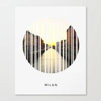 milan Canvas Prints featuring MILAN by Daniel Rey