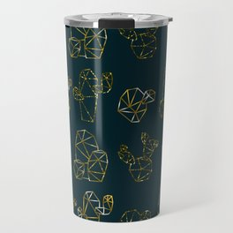 golden cactus Travel Mug