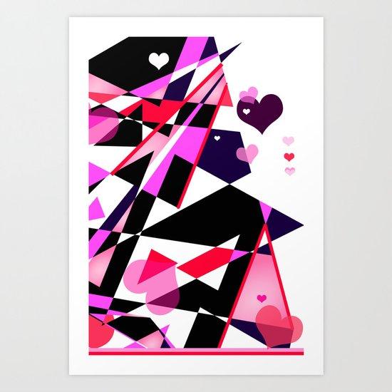 Single Track to Love 2 Art Print