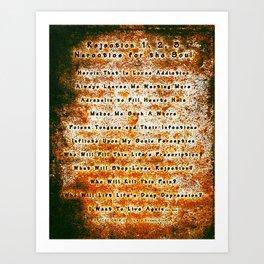 Rejection - 012 Art Print