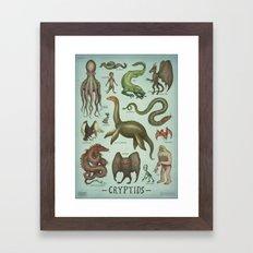CRYPTIDS Framed Art Print